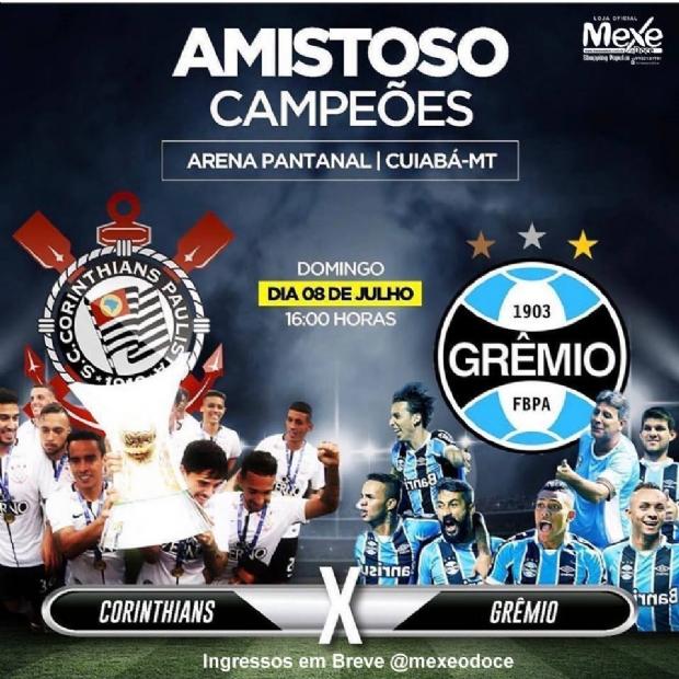Ingressos para Corinthians e Grêmio na Arena Pantanal custam a partir de R$ 30;  veja