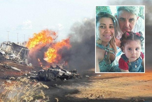 Casal e criança morrem após caminhão pegar fogo em acidente em MT