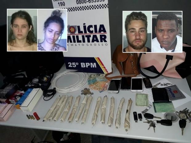 Quatro são presos após roubo de mais de R$ 50 mil de joalheria em Cuiabá