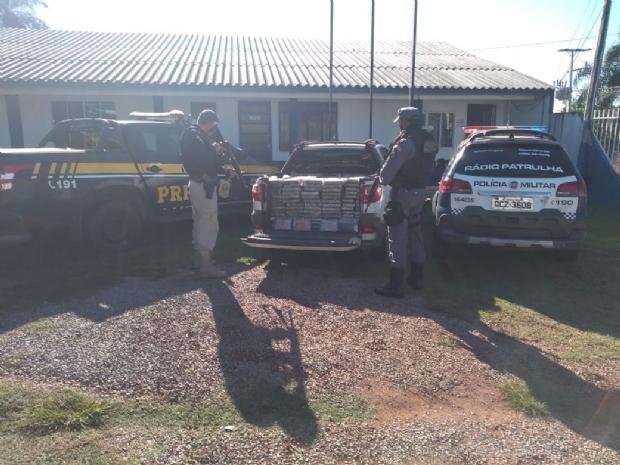 PM e PRF apreendem mais meia tonelada de droga que era transportada por MT
