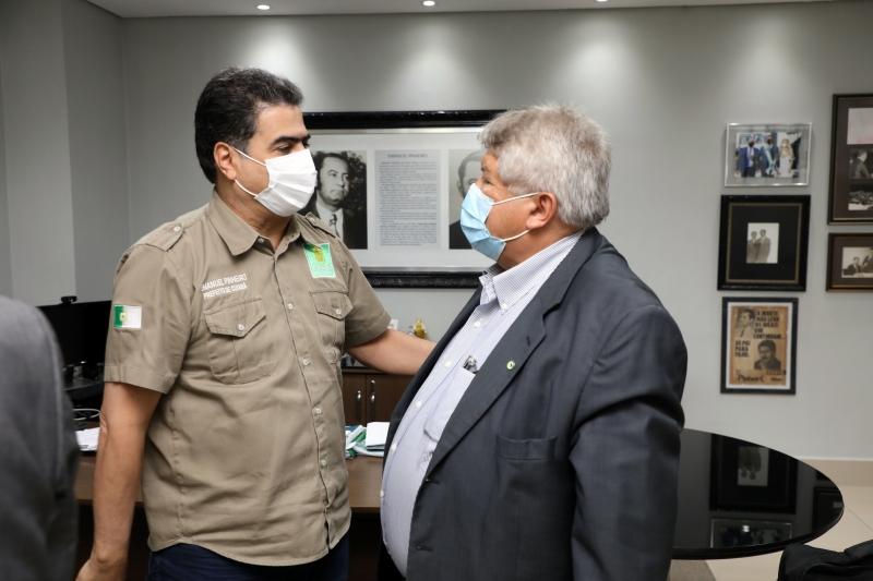 Em encontro com secretário do MDR, Emanuel defende estender política de resíduos sólidos com municípios do Vale do Rio Cuiabá