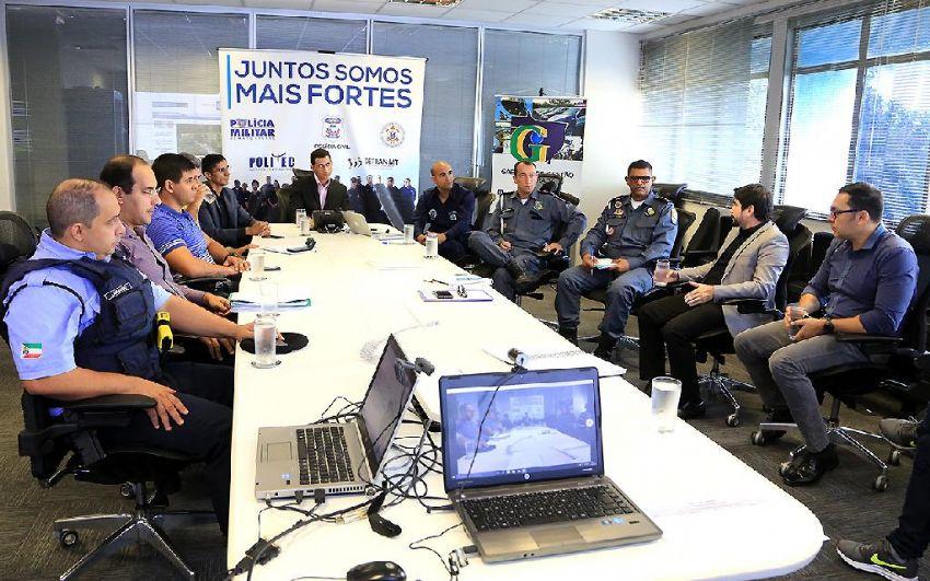 Reunião da Câmara Temática de Trânsito, do Gabinete de Gestão Integrada (GGI) - Foto por: Lenine Martins/Sesp-MT