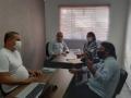 Gisela em reunião com a executiva nacional