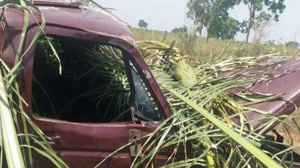 Homem de 53 anos morre após capotamento de caminhonete em rodovia