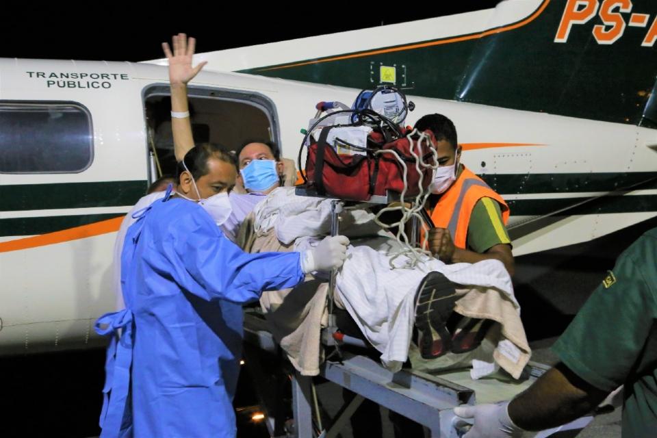 Barranco chega a Cuiabá após longa internação e seguirá reabilitação em casa
