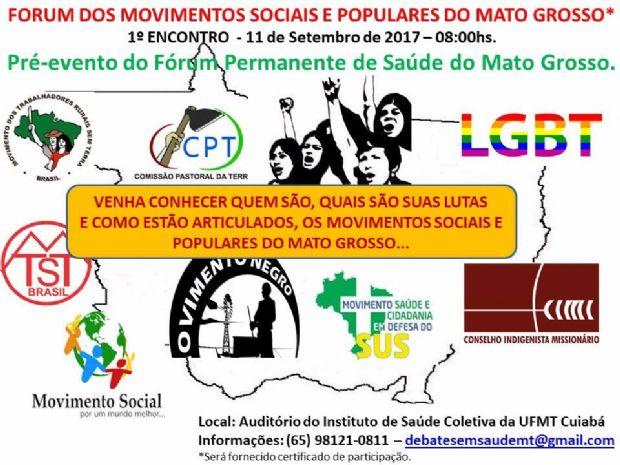 Fórum quer reunir até 180 movimentos sociais para iniciar articulação conjunta
