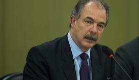 Ministro da Casa Civil, Aloizio Mercadante, em entrevista coletiva ao final da reunião do Fórum de Altos Executivos Brasil-Estados Unidos, no Palácio Itamaraty