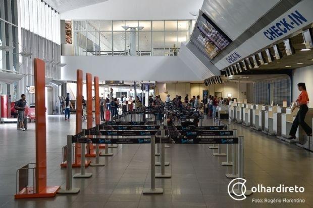Aeroporto Marechal Rondon já teve 325 voos cancelados após pandemia do coronavírus