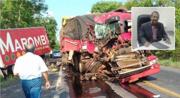 Ex-vereador e assessor de presidente da ALMT morre em acidente na BR-070;  vídeo