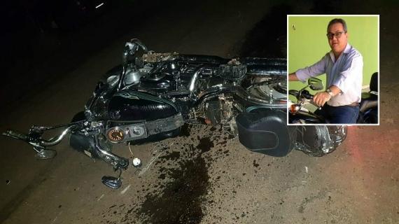 Advogado morre após colidir Harley Davidson em picape na Rodovia MT-248