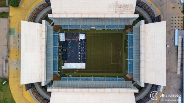 Festival dos 300 anos pode prejudicar gramado da Arena Pantanal para finais do MT e estreia do Brasileirão