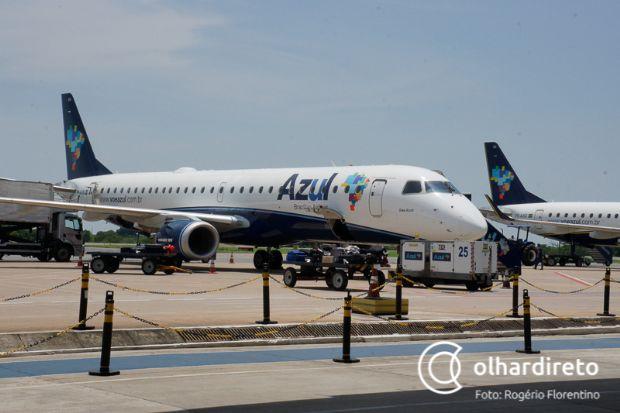Azul decide não operar voo entre Cuiabá e Porto Seguro; Porto Alegre também sai
