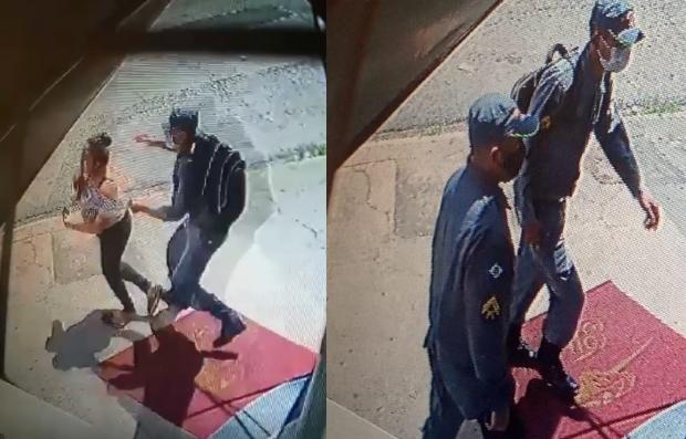 Bandidos tentam roubar joalheria vestidos com fardas da Polícia Militar;  veja vídeo