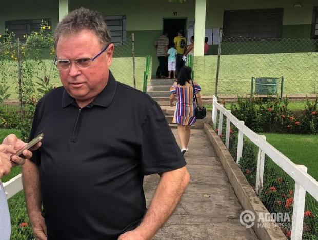 Após votação, ministro Blairo Maggi reafirma expectativa de que Mauro vença em 1º turno