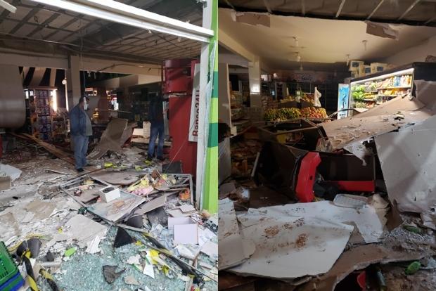 Criminosos explodem caixa eletrônico após troca de tiros com a PM em Várzea Grande