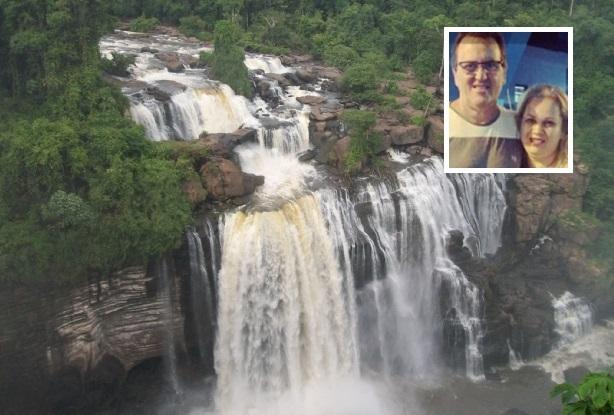 Casal é morto após roubo de caminhonetes e corpos são jogados em precipício de cachoeira