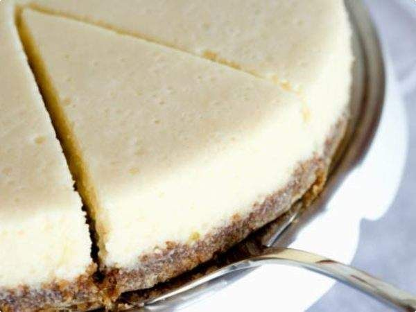 Cheesecake de morango 'fit'
