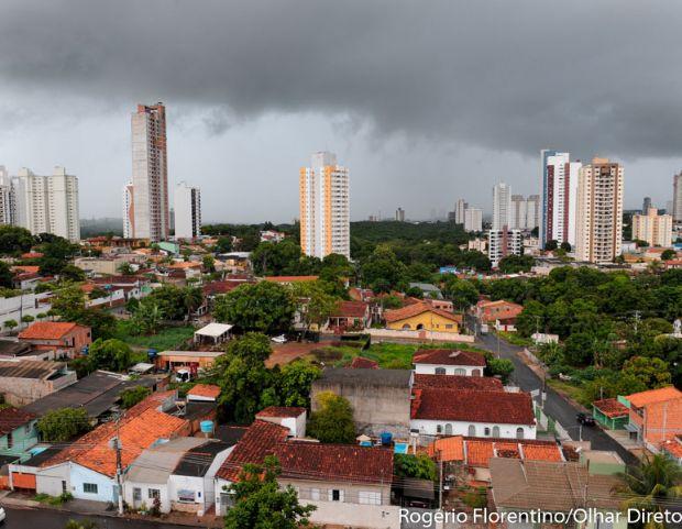 Previsão aponta risco de granizo, vendaval e tempestade em Cuiabá e cidades de MT