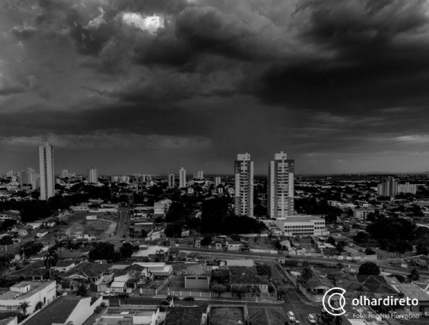 Cuiabá e 111 cidades de MT têm alerta de temporal nesta quinta-feira