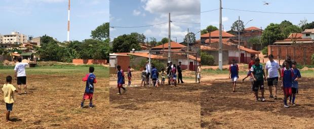 Projeto social arrecada valor para reforma de mini-estádio, doação de bolas e coletes para time infantil