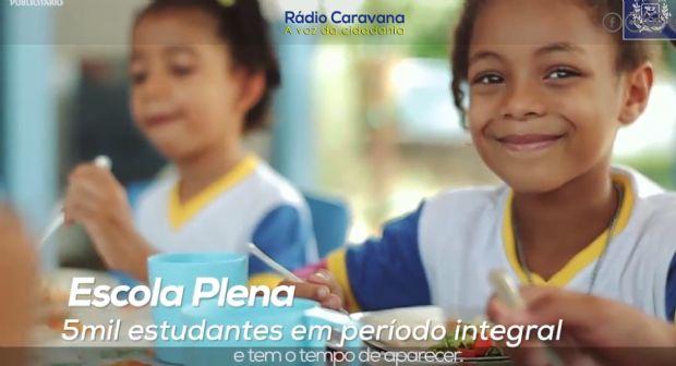 Publicidade institucional veiculada na Rádio Caravana
