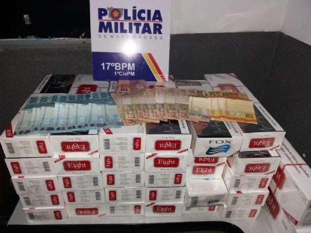Homem é preso com 320 carteiras de cigarro contrabandeadas