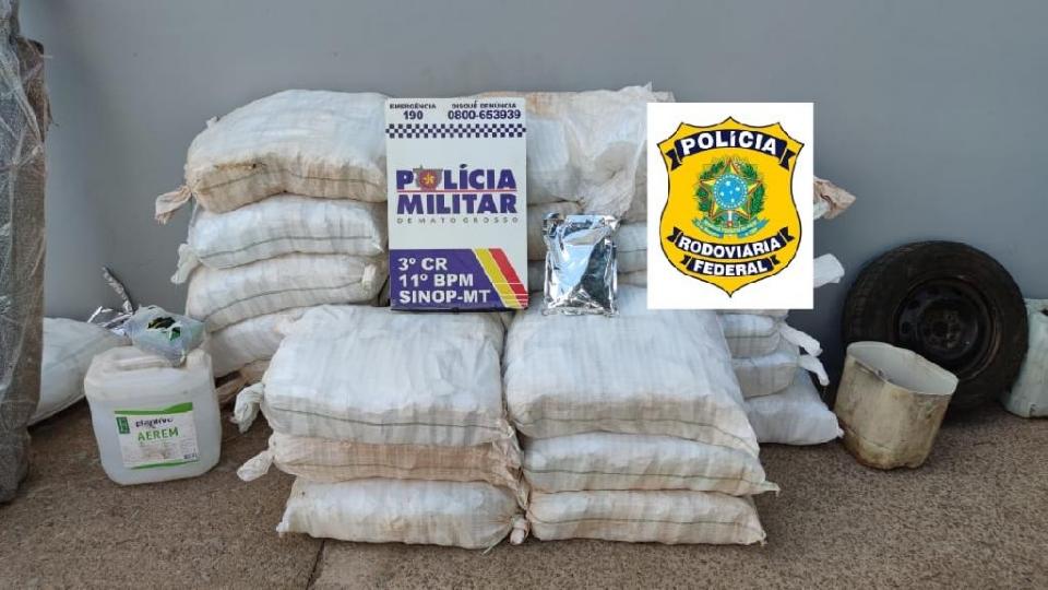 Dupla é presa após ser flagrada contrabandeando meia tonelada de defensivos agrícolas de Cuiabá