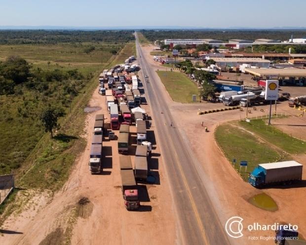 Greve dos caminhoneiros: saiba situação das rodovias federais do Estado nesta segunda