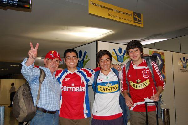 Nilmário Riquelme, 61 anos, com os sobrinnhos Rodolfo Burgos, Matos  e Xavier