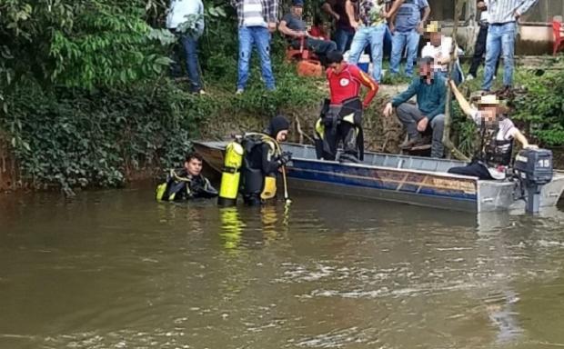 Bombeiros encontram corpo de homem que morreu afogado enquanto pescava