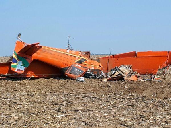 Queda de avião agrícola deixa piloto ferido em MT; causas serão investigadas