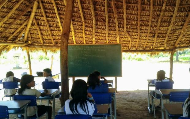 Escola indígena em Mato Grosso