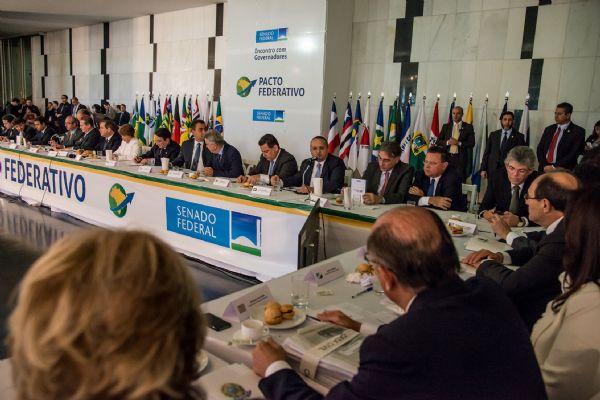 Em reunião de governadores, Pedro Taques mantém discurso firme e defende mais recursos para os Estados