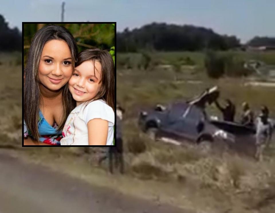 Enfermeira e filha de seis anos morrem após colisão entre Hilux e carreta na BR-163; veja vídeo