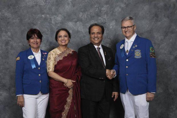 Eraldo da Silva Pereira tomou posse em Chicago (EUA), durante os festejos dos 100 anos da Associação Internacional de Lions Clubes