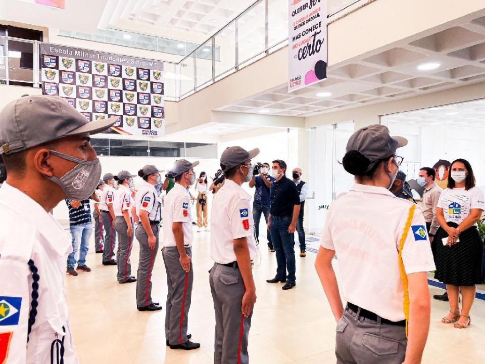 Com capacidade para 500 estudantes, nova Escola Estadual Militar Tiradentes é inaugurada em Sinop