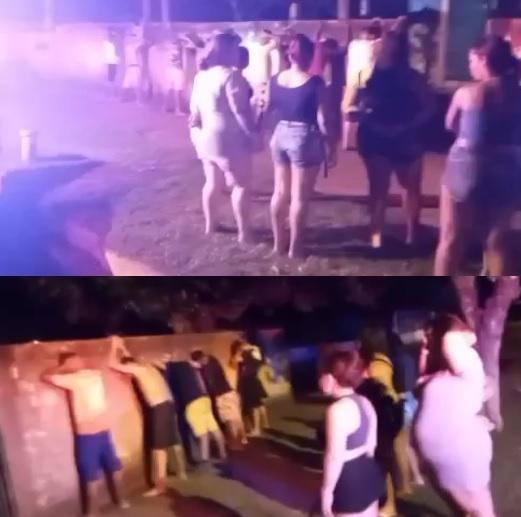 Festa clandestina é encerrada pela polícia e 19 pessoas acabam na delegacia
