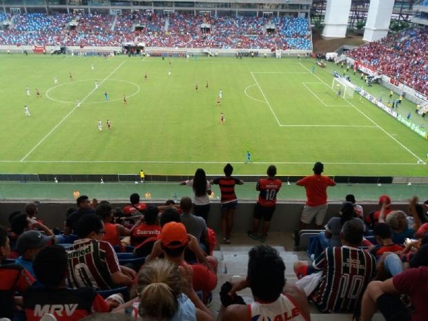 Com 15.884 torcedores na Arena, Fluminense aplica 4X0 no Flamengo;  Veja fotos e vídeo