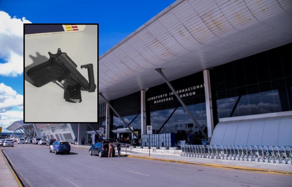 Homem é preso após tentar embarcar armado em voo no Aeroporto Internacional Marechal Rondon