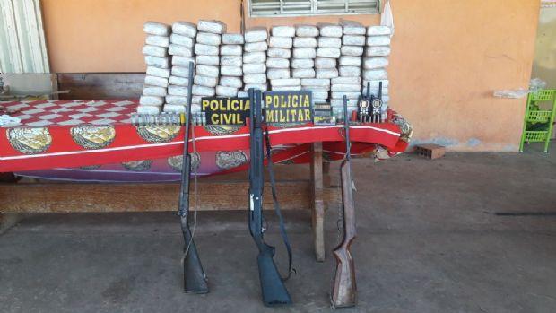 Polícia prende família com 98 tabletes de cocaína pura em fazenda de MT