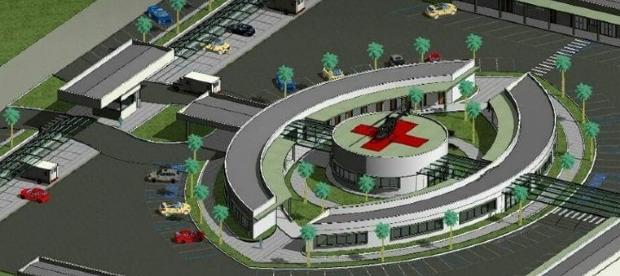 Hospital beneficente com heliporto e 20 apartamentos será construído a 25 km de Cuiabá