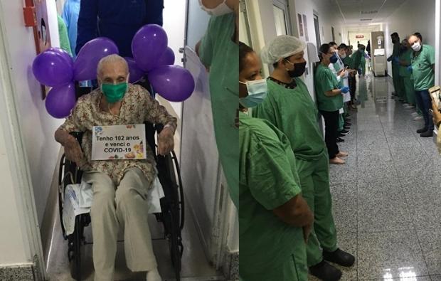 Aos 102 anos, idosa é curada da Covid-19 e deixa UTI em Cuiabá