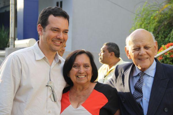 Ludio Cabral com João Ramalho, presidente da Fundação Cândido Rondon, e sua esposa