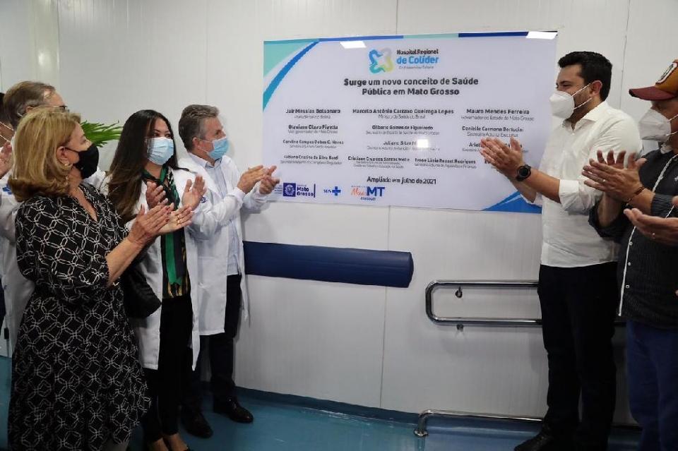 Governador lança nova ala do Hospital Regional de Colíder e prefeito ressalta parceria: