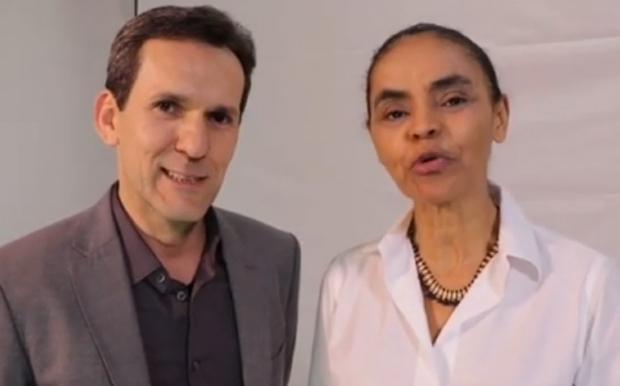 Presidenciável Marina Silva diz que policial Arthur Nogueira irá combater corrupção no Estado;   Vídeo