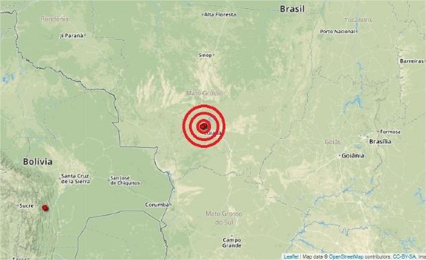 Tremor de terra em Cuiabá teve 3.2 graus de magnitude; veja relatos