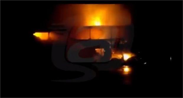 Ônibus com 40 romeiros de Mato Grosso pega fogo em rodovia de São Paulo