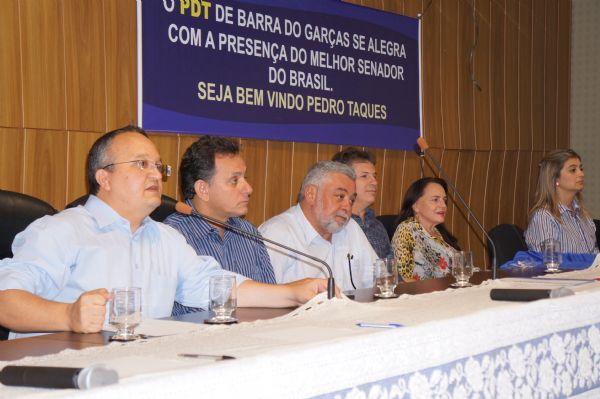 Mendes confirma lançamento da pré-candidatura de Taques neste mês com DEM, PSDB e PTB no palanque