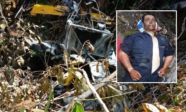 Piloto sofreu queimaduras ao deixar avião em chamas e usou GPS para achar rio