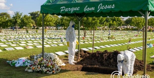 Mortes por Covid-19 aumentam 54% e Cuiabá registra em média 12 óbitos por dia